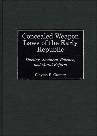 Cramer Concealed Weapons Laws Book Cover