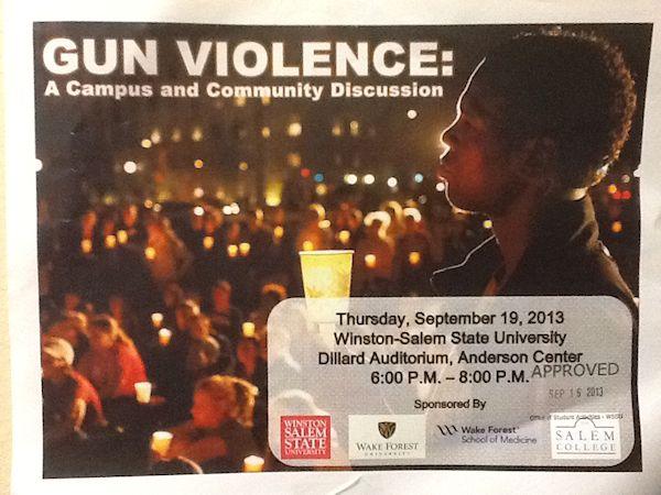 Gun Violence Discussion Flier