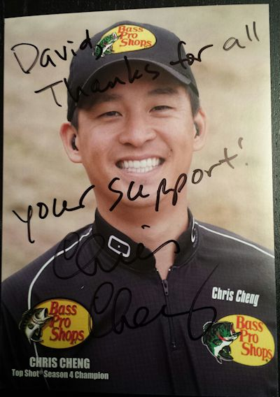 Chris Cheng Autographed Photo NRA 2013
