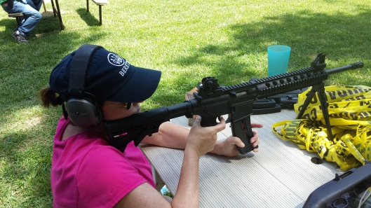 Shooting a Smith & Wesson M&P 15-22 rifle