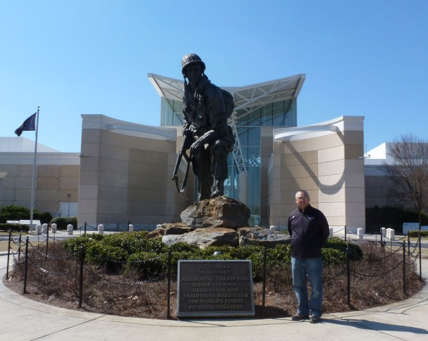"Photo with ""Iron Mike"" at Airborne and Special Operations Museum in Fayetteville, NC"