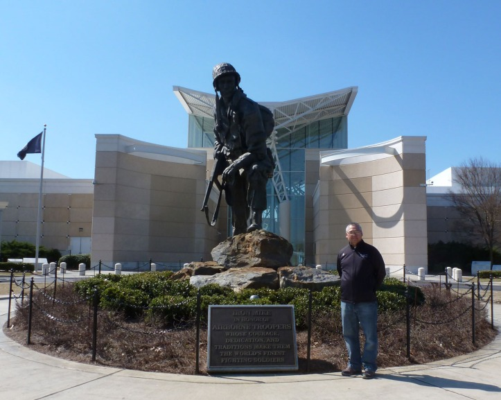 """Photo with """"Iron Mike"""" at Airborne and Special Operations Museum in Fayetteville, NC"""