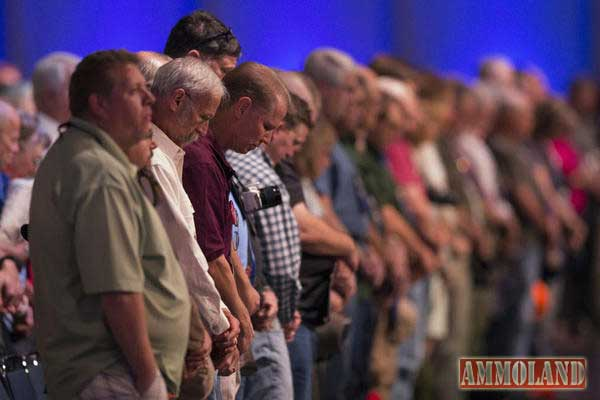NRA-Members-Pray-to-God-before-Meeting