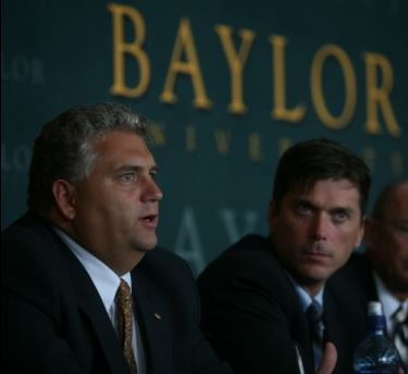 Professor F. Carson Mencken (left) courtesy of Baylor University Media Communications