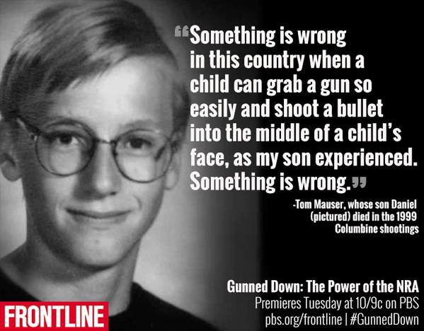 """Live Tweeting PBS Frontline Program """"Gunned Down: The Power of the NRA"""""""