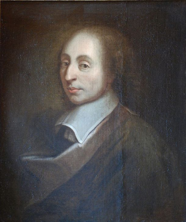 """Blaise Pascal Versailles"" by unknown; a copy of the painture of François II Quesnel, which was made for Gérard Edelinck en 1691. - Own work. Licensed under CC BY 3.0 via Wikimedia Commons"