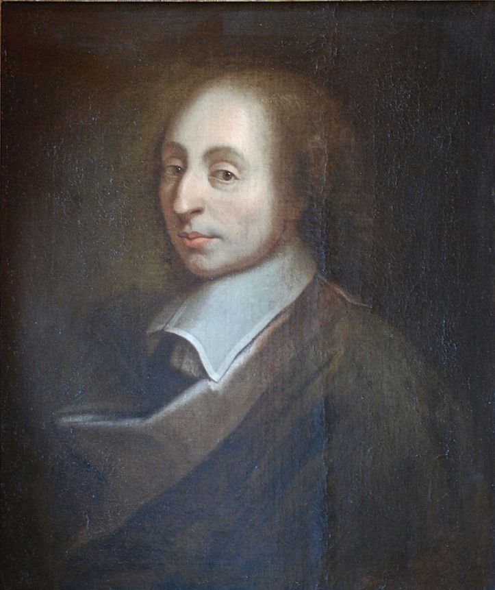 """""""Blaise Pascal Versailles"""" by unknown; a copy of the painture of François II Quesnel, which was made for Gérard Edelinck en 1691. - Own work. Licensed under CC BY 3.0 via Wikimedia Commons"""