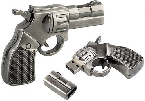 The Materiality of Gun Culture, Part 3: Revolver Flash Drive