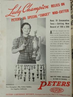 Women in Gun Advertising, The American Rifleman,1937