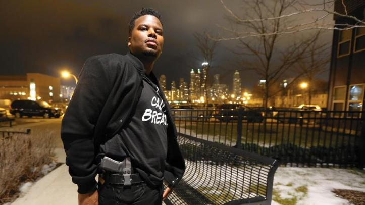 Keith Hearn has a license to carry a gun but says he was arrested for it last year. Chicago police finally realized he had it legally and freed him, he said. (Phil Velasquez, Chicago Tribune)