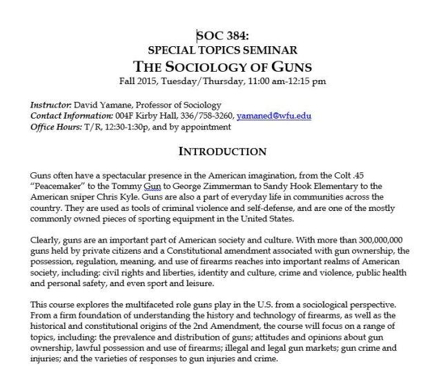Guns Syllabus