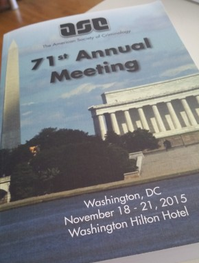 Attending the 2015 American Society of Criminology Annual Meetings