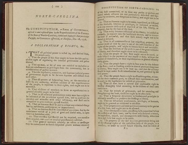 1776 Constitution of North Carolina