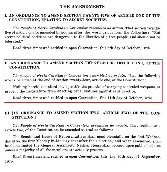 1875 Amendments to NC Constitution