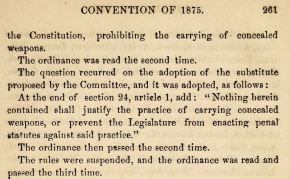 History of Concealed Carry in North Carolina, Part 2: Anti-Concealed Carry Constitutional Amendment (1875)