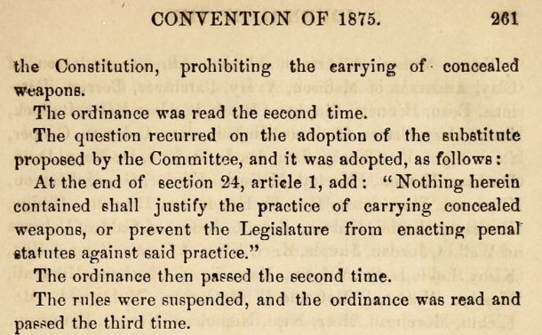 Convention of 1875 Passage of Ordinance 198