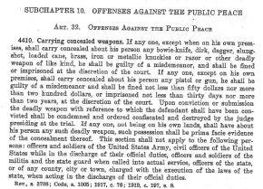 History of Concealed Carry in North Carolina, Part 5: Modification and Consolidation of Ban (1883-1919)