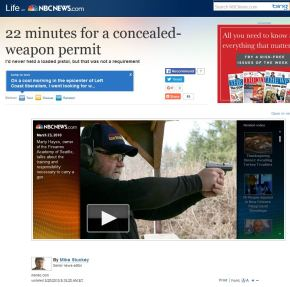 22 Minutes for a Concealed Weapon Permit in Seattle