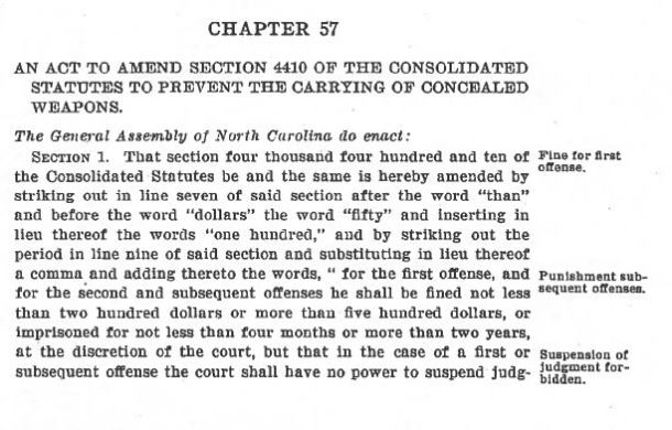 NC 1923 Chapter 57