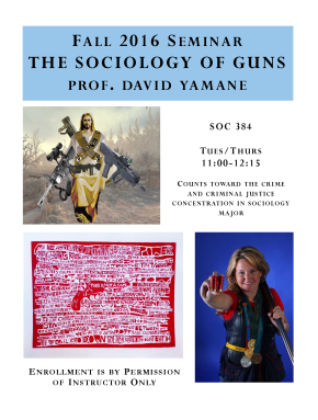 Sociology of Guns, Round 2, Fall 2016