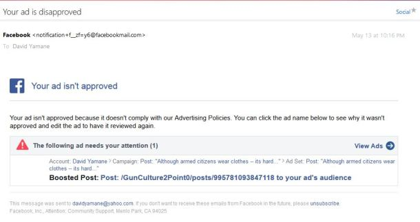 Denied Facebook