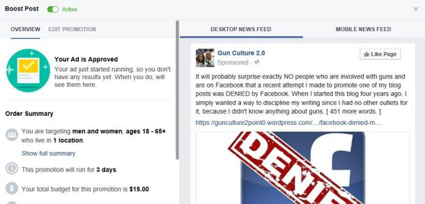 facebook denied ad