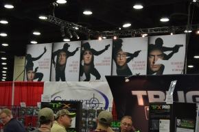 Crimson Trace's Interesting Banner at the NRA Annual Meeting