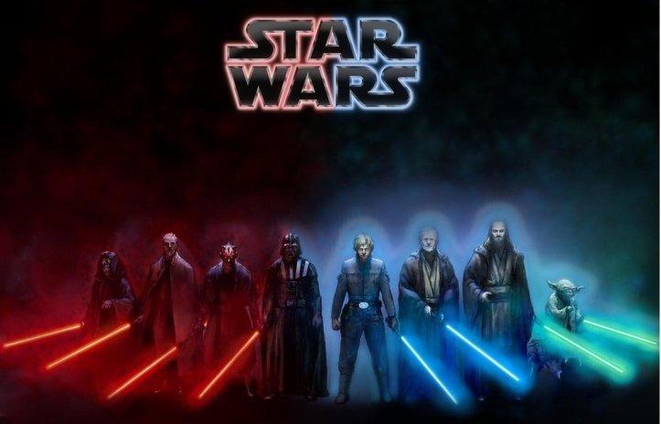 Image by SoulReaper919 at http://soulreaper919.deviantart.com/art/Star-Wars-Dark-Side-Light-Side-Wallpaper-452550689