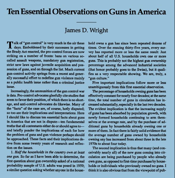 Wright Ten Essential Observations Snip