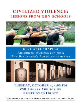 Civilized Violence Lessons from Gun Schools by Harel Shapira at Wake Forest University
