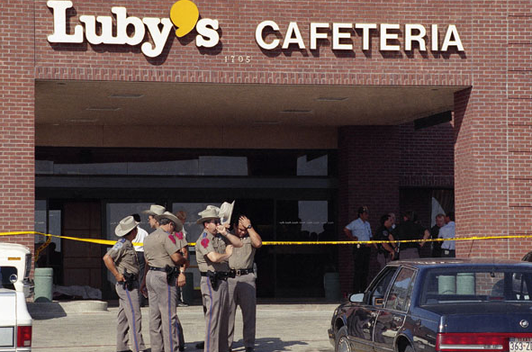Luby's Cafeteria, Killeen, Texas, October 16, 1991. Photo credit: AP/New York Daily News