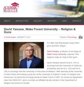 Religion and Guns Research Digested in Academic Minute