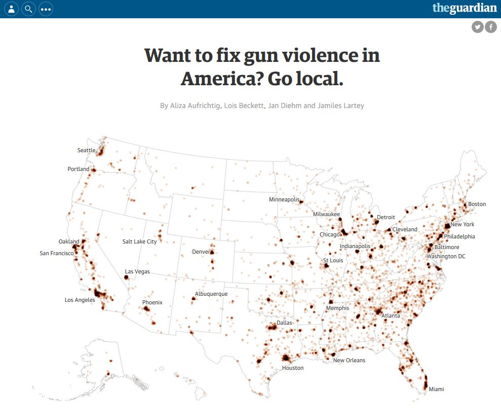 Source Https Www Theguardian Com Us News Ng Interactive 2017 Jan 09 Special Report Fixing Gun Violence In America