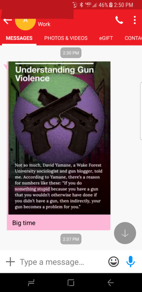 I am Gunfamous, On Snapchat, According to MyDaughter