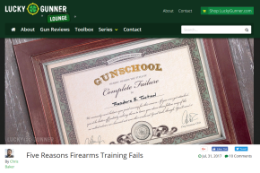 From the Lucky Gunner Lounge: Five Reasons Firearms Training Fails