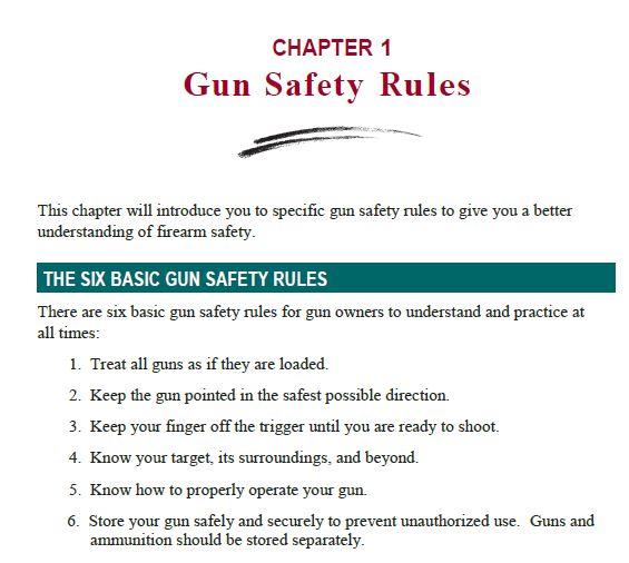 California\'s Six Basic Gun Safety Rules in Spanish | Gun Culture 2.0