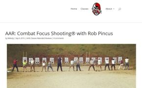 A Forgotten Comment on Rob Pincus and Combat Focus Shooting – October2015