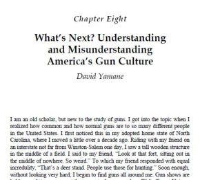 Understanding and Misunderstanding America's GunCulture
