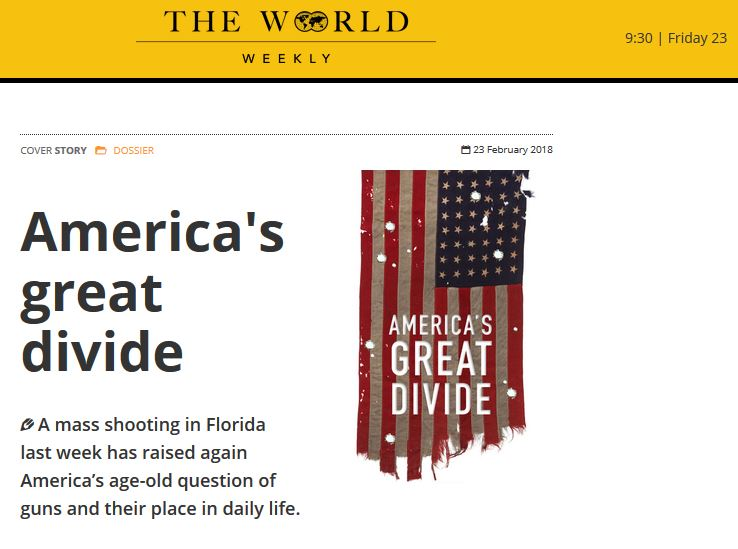 "Comments on ""America's Great Divide"" Over Guns For The World Weekly"