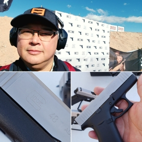 Shooting the Glock 48 and 43X at SHOT Show Industry Day at the Range